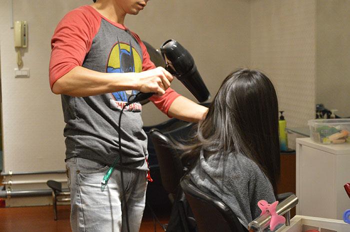 資生堂水質感燙髮流程